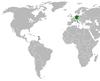 Lage von Deutschland und St. Kitts und Nevis