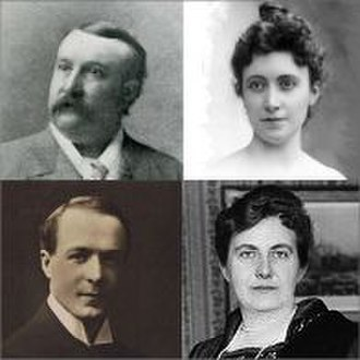 The Dream of Gerontius - Notable Gerontius soloists, Edward Lloyd and Marie Brema, (top); Gervase Elwes and Elena Gerhardt, (below)