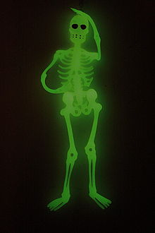 A green skeleton