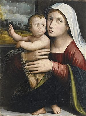 Giacomo Francia - Giacomo Francia, Madonna and Child, oil on panel, 55 x 40 cm.