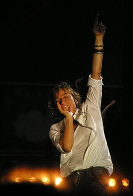 Gianna Nannini tijdens concert in Codroipo op 3 september 2008