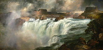 Shoshone Falls - Shoshone Falls on the Snake River by Thomas Moran, c. 1900