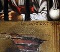 Giovanni da san giovanni, decollazione del battista, 1620, 09 firma.jpg