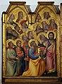 Giovanni del Biondo, incoronazone della vergine, 1374 ca. 02 santi.jpg