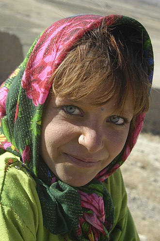 Orphan - An Afghan girl at a Kabul, Afghanistan orphanage in January 2002