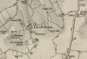 Gisleham - Ordnance Survey Map of Gisleham (19th Century)