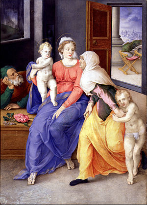 Holy Family with Santa Isabel and San Juanito