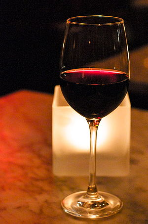 A glass of Malbec wine