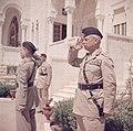 Glubb Pasha en koning Hussein bij een parade van de erewacht van het Arab Legion, Bestanddeelnr 255-9819.jpg