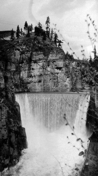 Goat River (Kootenay River tributary) - Goat River Dam in 1935