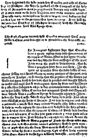 Facsimile of page 1 of Godefrey of Boloyne, pr...