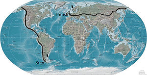 Karl Bushby - The planned route for the expedition