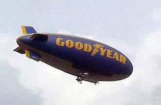 Aerial advertising - The Goodyear Blimp uses branding and animated lighting displays.