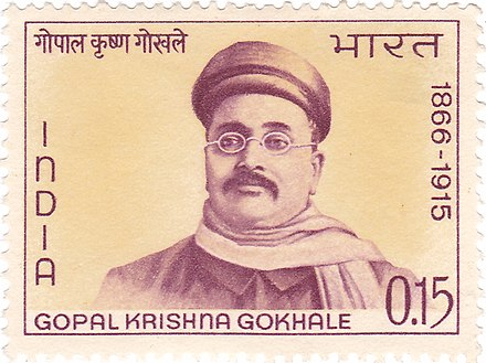 Gokhale on a 1966 stamp of India
