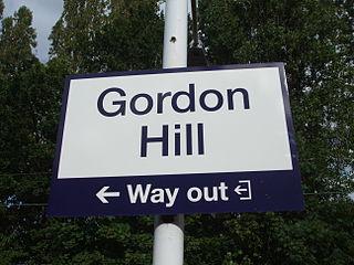 Gordon Hill, London Human settlement in England