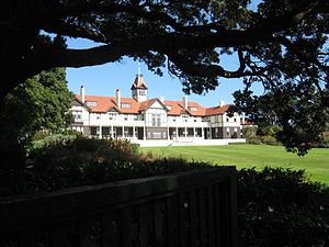 Government House, Wellington - Garden Front
