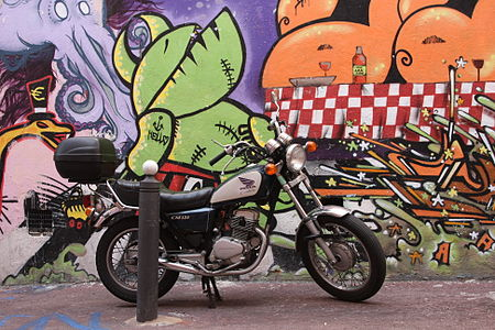 Graffiti and Honda CM125