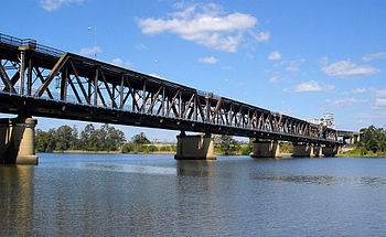 View of Grafton Bridge from the north bank of ...