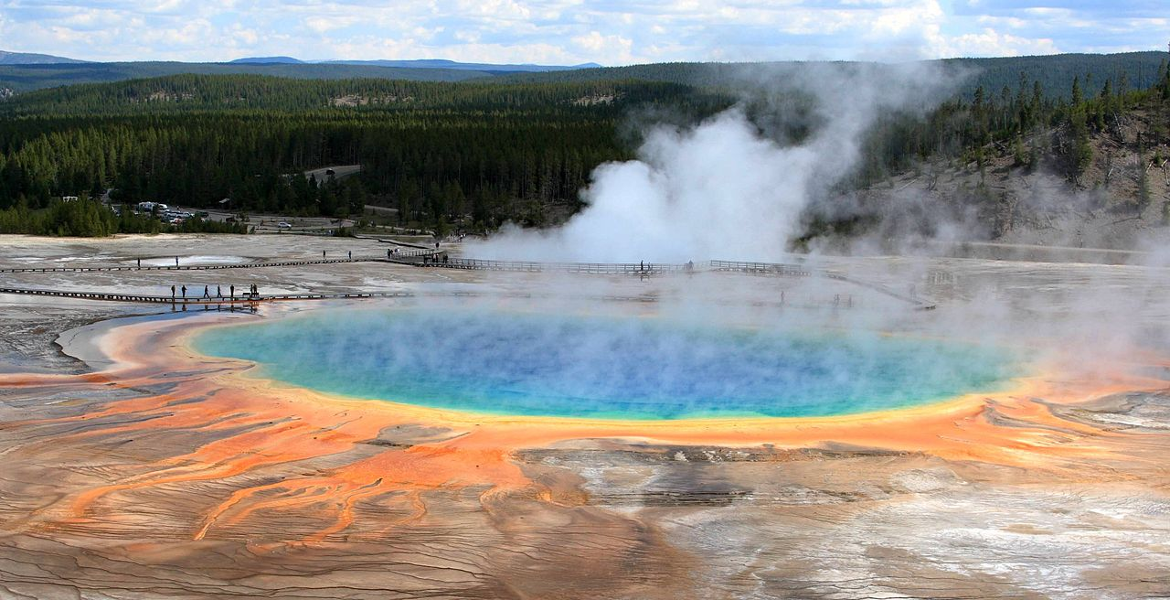 Grand Prismatic Spring Yellowstone National Park WY