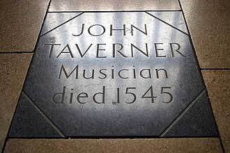 John Taverner - Grave in St Botolph's, Boston