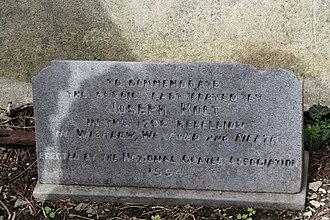 Joseph Holt (rebel) - 1994 memorial erected at the grave of United Irishman Joseph Holt (1756-1826), Carrickbrennan Cemetery, Monkstown, Co. Dublin.