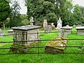 Gravestones and medieval cross, St Dubricius - geograph.org.uk - 960172.jpg
