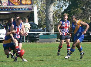 Great Britain national Australian rules football team - Image: Great britain vs nauru 2