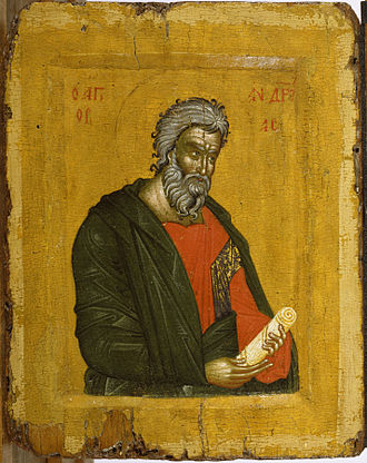 Henry Walters - Saint Andrew, Greek icon, 14th century. Purchased by Henry Walters, 1930.