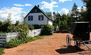 The Green Gables farmhouse.