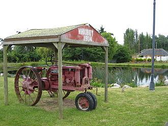 Greenbank, Washington - An antique tractor at Greenbank