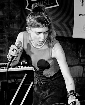 Grimes (musician) - Grimes performing in Austin, Texas, 2012.