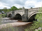 Grinton Bridge across the River Swale; it was widened in the 18th century
