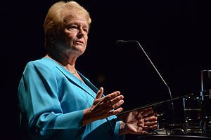 Gro Harlem Brundtland - Harlem Brundtland speaking at Fronteiras do Pensamento in 2014