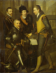 Group portrait of the four brothers of Willem I, Prince of Orange: Jan (1536-1606), Hendrik (1550-74), Adolf (1540-68) and Lodewijk (1538-74), counts of Nassau
