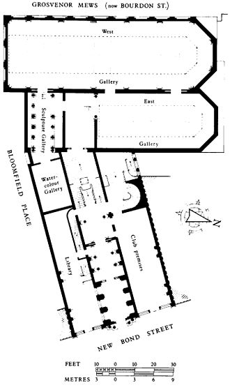 Grosvenor Gallery - Image: Grosvenor Gallery plan 1899