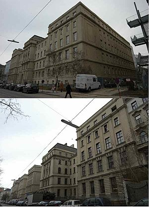 Imperial-Royal Landwehr - The building of the former Imperial Royal Franz Joseph Landwehr Academy in Vienna