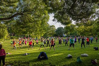 Vänortsparken - Outdoor training in Vänortsparken