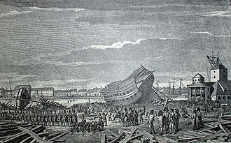 Battle of Copenhagen (1807) - British soldiers destroyed ships waiting for repair