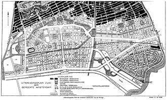 Plan Zuid - H.P. Berlage. Zuidelijk Uitbreidingsplan Amsterdam. 1915.