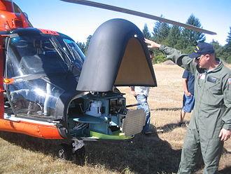 Eurocopter HH-65 Dolphin - HH-65C radar