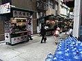 HK 上環 Sheung Wan Bonham Strand 文華里 Man Wa Lane stalls D-water plastic bottles June-2012.JPG