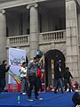 HK 中環 Central 遮打道 Chater Road 香港 前立法會大樓 former Legco Building Sunday morning 菲律賓男生 Filipino dancers Jan-2012 Ip4 01.jpg