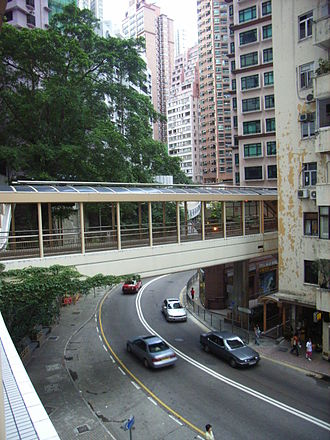 Robinson Road, Hong Kong - The Central–Mid-Levels escalator crossing above Robinson Road