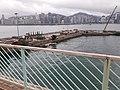 HK TST 尖沙咀東海濱 Tsim Sha Tsui East Waterfront Promenade 梳士巴利道 Salisbury Road footbridge view 紅磡 Hung Hom 維多利亞海 Victoria Harbour March 2020 SS2 03.jpg