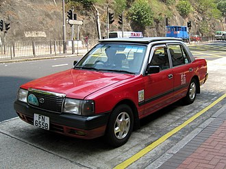 Taxicabs of Hong Kong - Urban red taxi