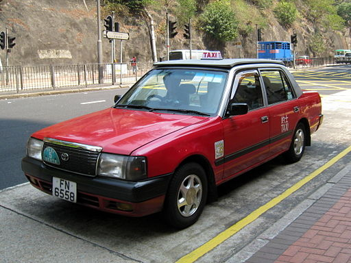 HK Toyota Comfort Red Taxi