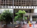HK Tram tour Wan Chai Hennessy Road Asian House under renovation construction Bamboo scaffolding Aug-2013 003.JPG