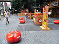 HK Wan Chai Queen's Road East 01 art red tomato Aug-2012.JPG