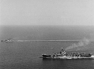 USS Walker (DD-517) - USS Walker escorting Australian Carrier off Korea in 1951