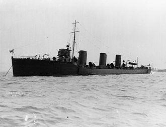 Tribal-class destroyer (1905) - Image: HMS Cossack (1907) IWM Q 021123
